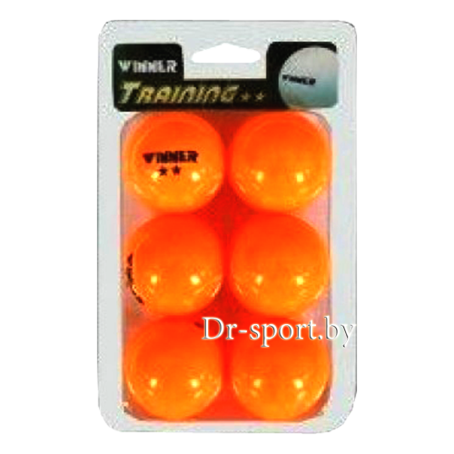 Мяч для настольного тенниса Winner Training 2 4233 (6)