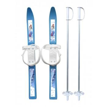 """Лыжи пластиковые """"Олимпик-Спорт"""" 66 см с палками 75 см в коробке"""
