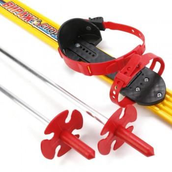 "Лыжи детские ""Вираж-спорт"" 100/100 см с палками в пакете"