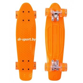 Скейтборд  со светящимися колесами AR-39 оранжевый