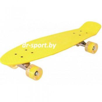 Скейтборд  со светящимися колесами AR-39 желтый