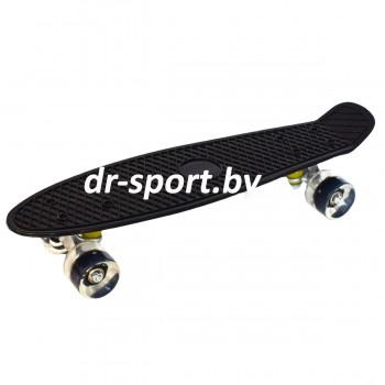 Скейтборд  со светящимися колесами AR-39 черный