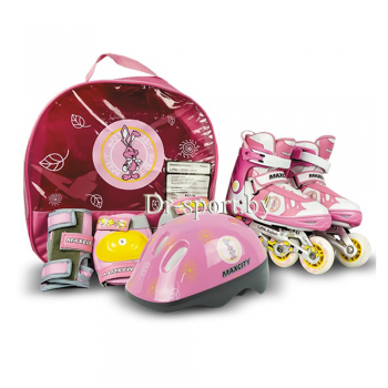 Коньки роликовые MaxCity Little Rabbit combo pink L(39-42)