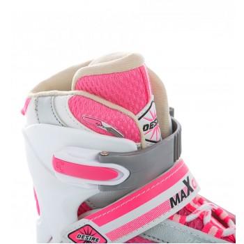 Коньки ледовые MaxCity Desire Girl Pink 30-33