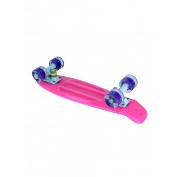 Скейтборд  с подсветкой MaxCity small PINK с подсветкой